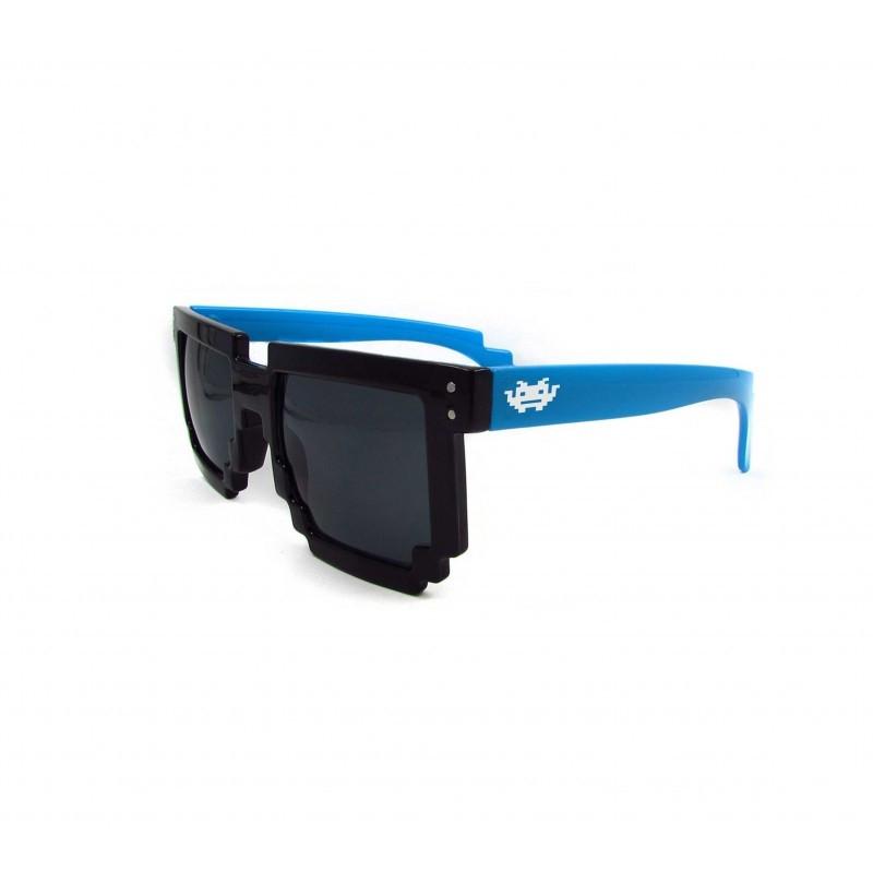 8 - BIT schwarz/blau Pixel Sonnenbrille