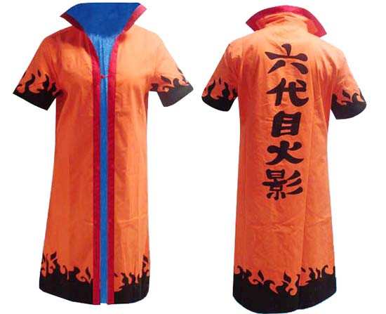 Naruto Yondaime Hokage orangenes Cosplay Kostüm