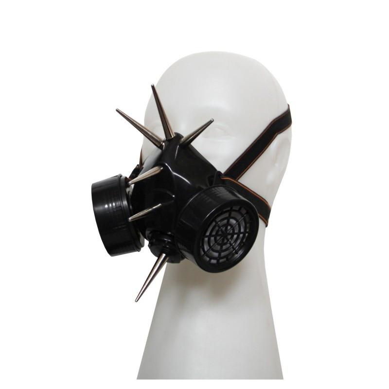 Steampunk Gasmaske XL Metall Spikes