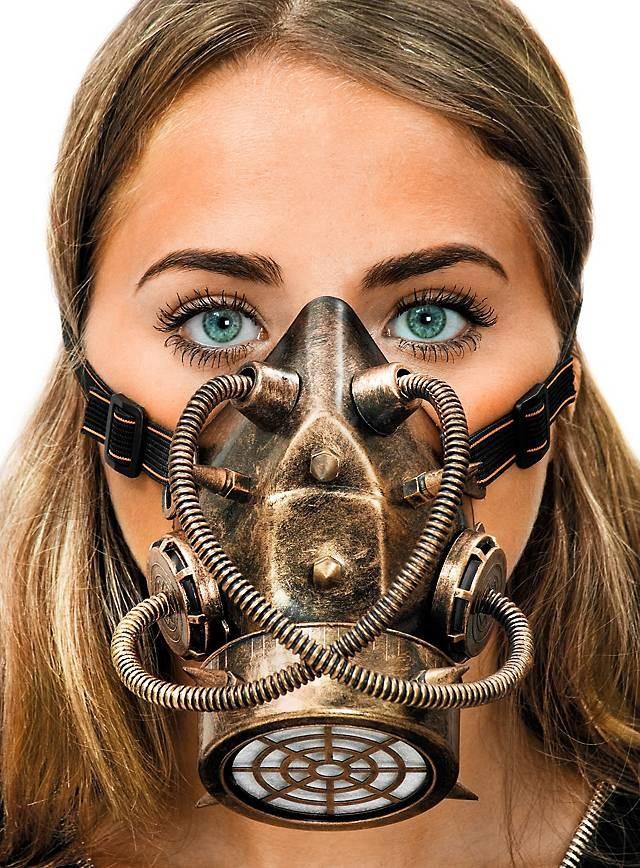 Steampunk bronze Gasmaske