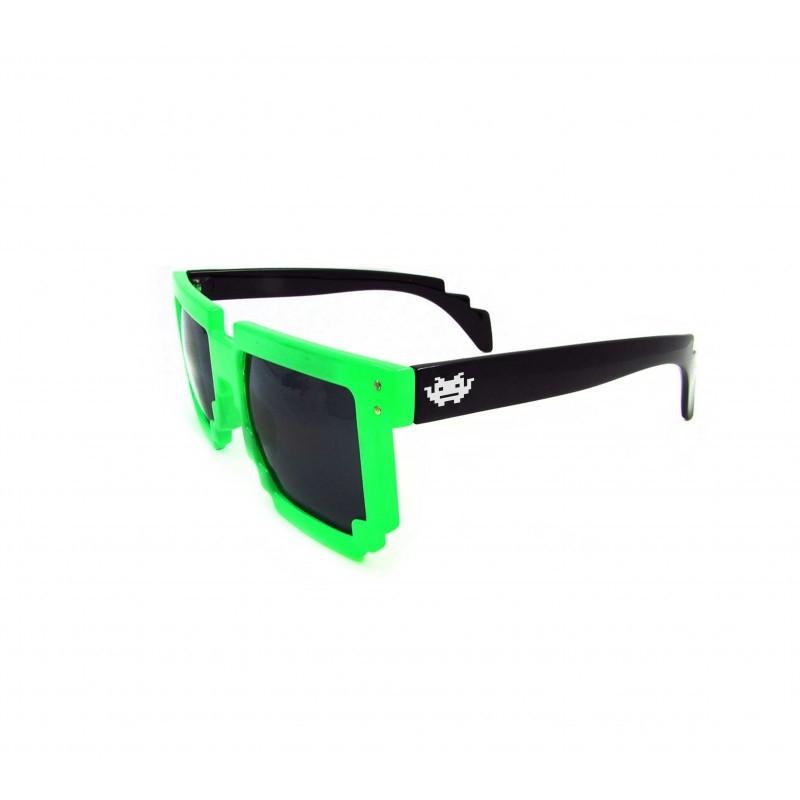 8 - BIT grün/schwarz Pixel Sonnenbrille