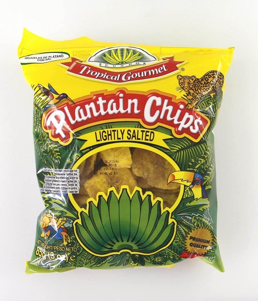 Plantain Bananen Chips leicht gesalzen 85g Snack