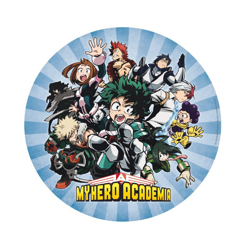My Hero Academia - Gruppe - Rundes Mauspad