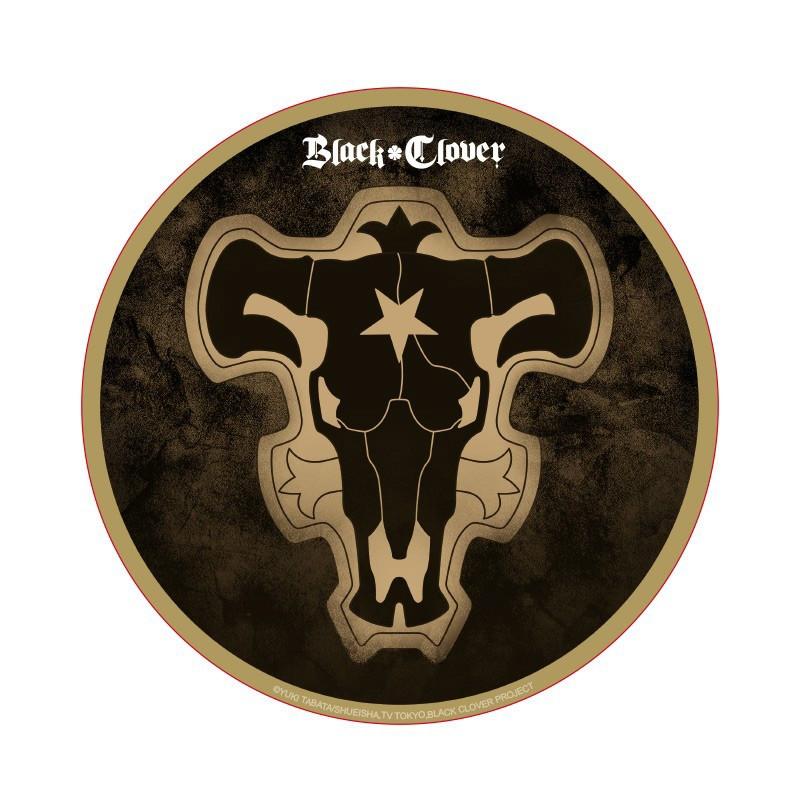 Black Clover - Black Bull Flagge - Rundes Mauspad