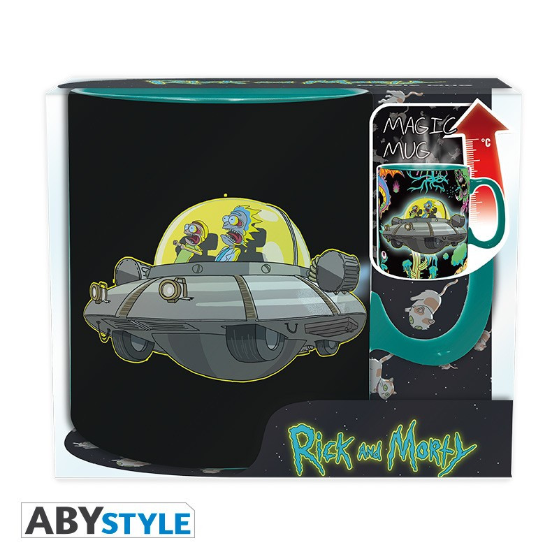 Rick and Morty Spaceship Magic Mug 460ml Tasse