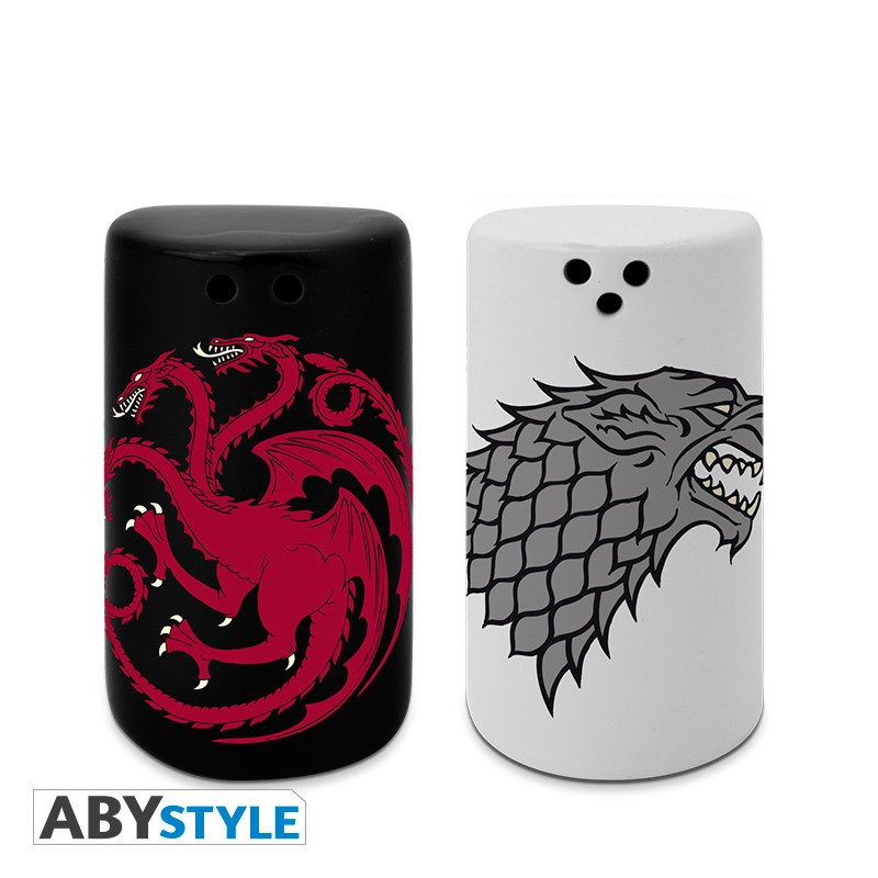 Game of Thrones Stark & Targaryen Salz- u. Pfefferstreuer