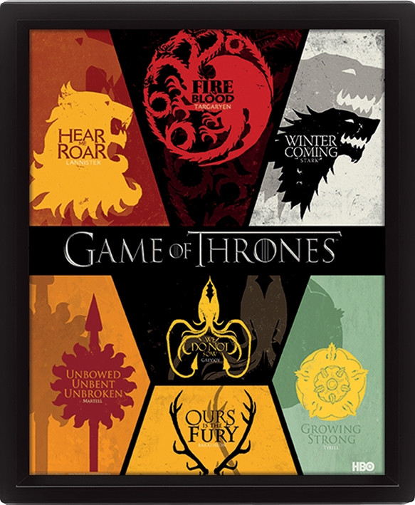 Game of Thrones 3D- Bild Wappen