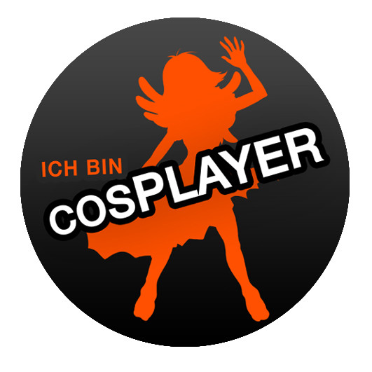 """Ich bin Cosplayer"" Button"