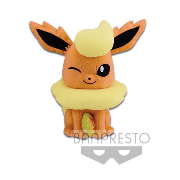 Pokemon Flamara mit Feuerstein 23cm Plüschfigur
