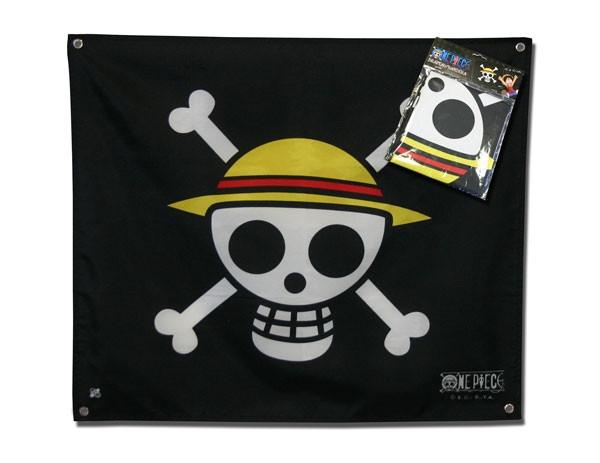 One Piece Piraten Ruffys Strohhutbande 50x60 cm Flagge