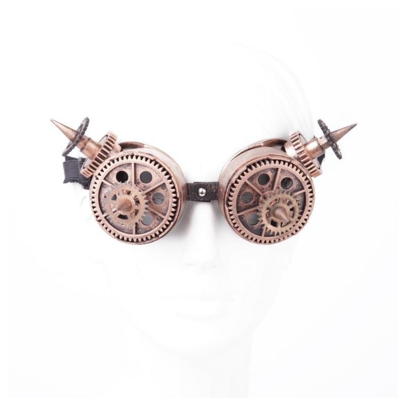 Steampunk Brille Bronze mit Spitzen