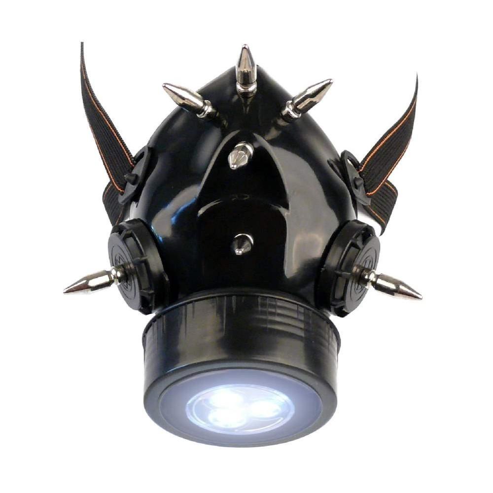 Steampunk Gasmaske mit Spikes und LED Licht