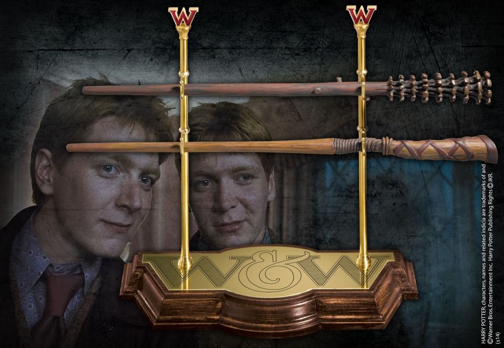 Harry Potter Fred und George Weasley Zauberstabkollektion mit Halterung