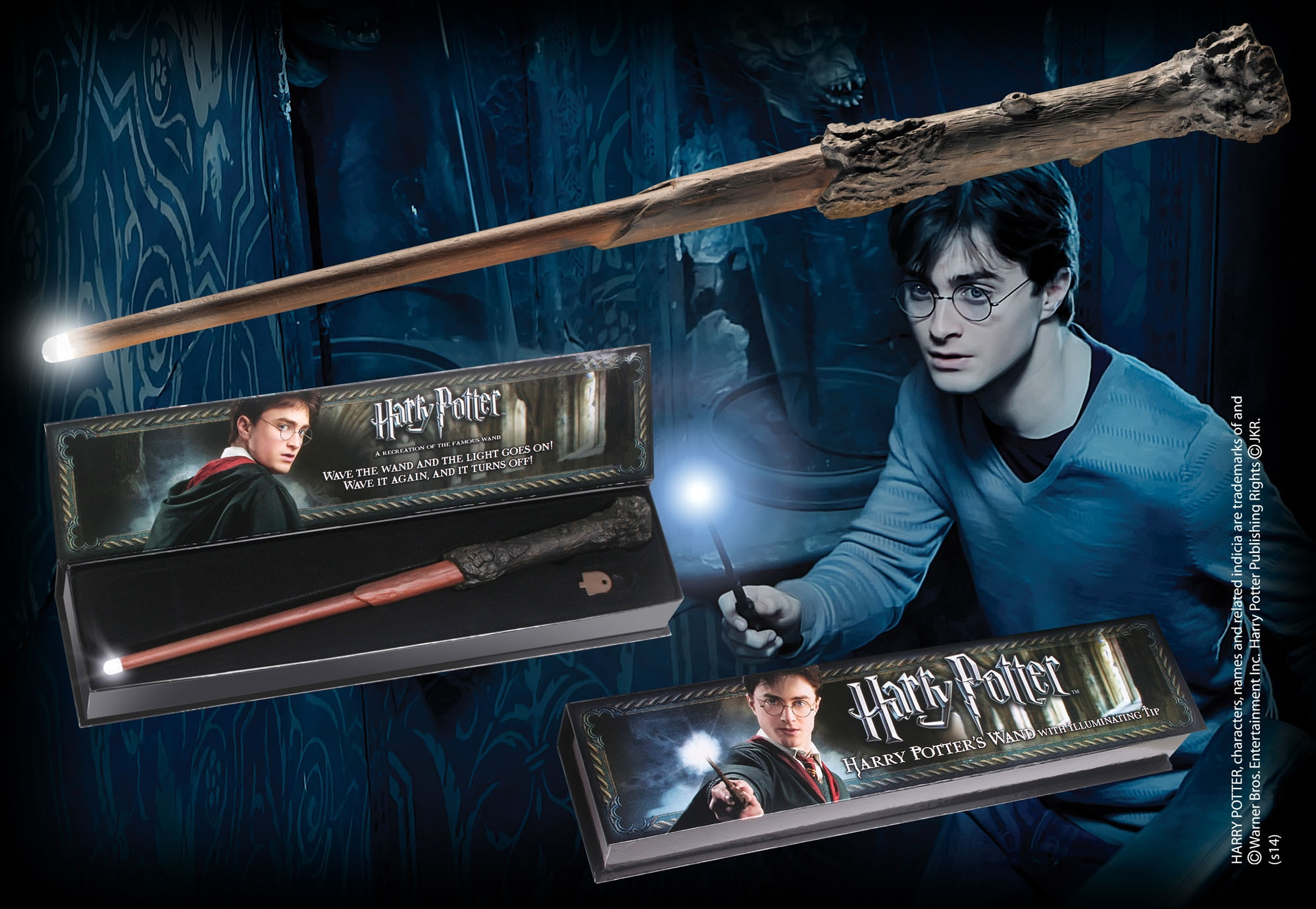 Harry Potter Harry's Zauberstab mit Leuchtfunktion