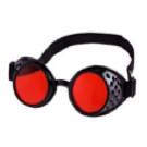 Steampunk Brille Rot